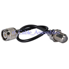 F-Type female bulkhead to TNC male plug pigtail Coaxial Cable RG174 for wireles