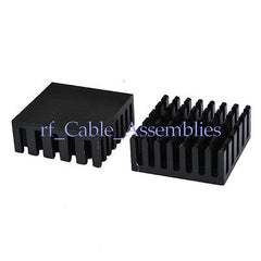 10pcs 25x25x10mm High Quality Aluminum Black Heat Sink For Chip