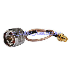 N male to RP-SMA female nut bulkhead pigtail cable RG316 for 3G WIFI antenna