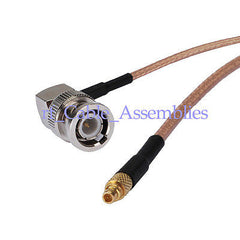 BNC male plug right angle to MMCX male plug pigtail Coax Cable RG316 3G/4G WIFI