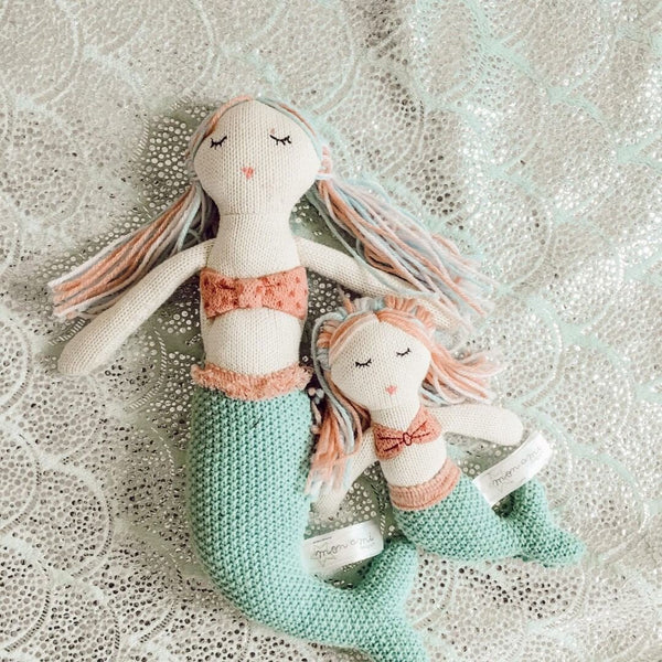 MERMAID COTTON BABY RATTLE 'MIA'