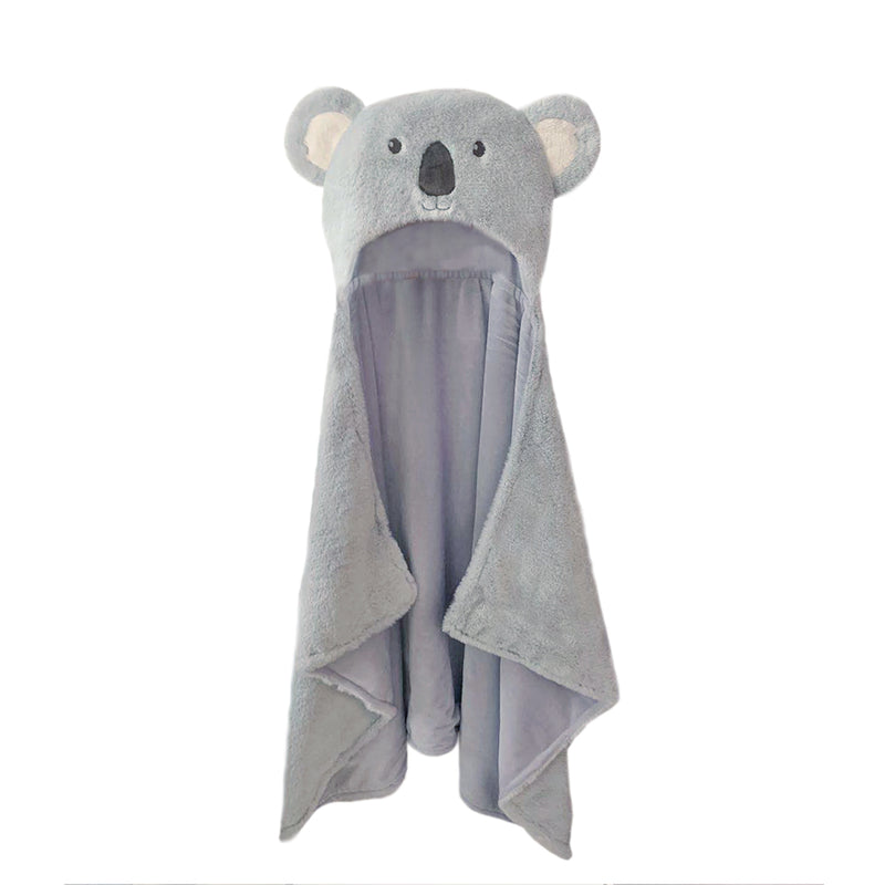 Koala Plush Hooded Blanket