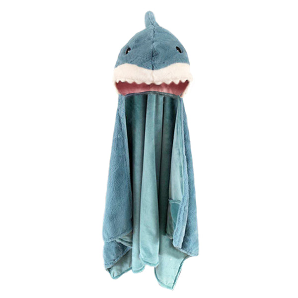 Seaborn Shark Hooded Blanket