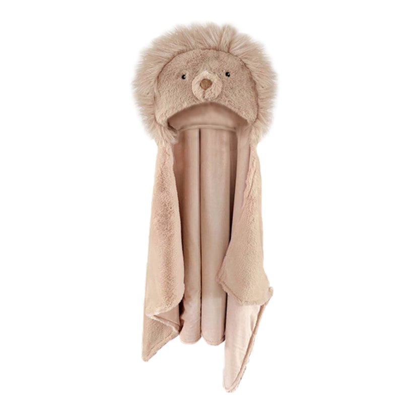 'LUCA' THE LION HOODED BLANKET