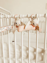 PADDED BUNNY PRINCESS BABY HANGERS SET OF 2