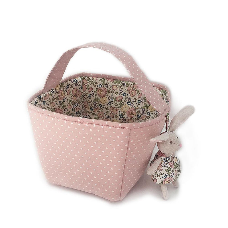 PINK FABRIC BASKET / STORAGE CADDY