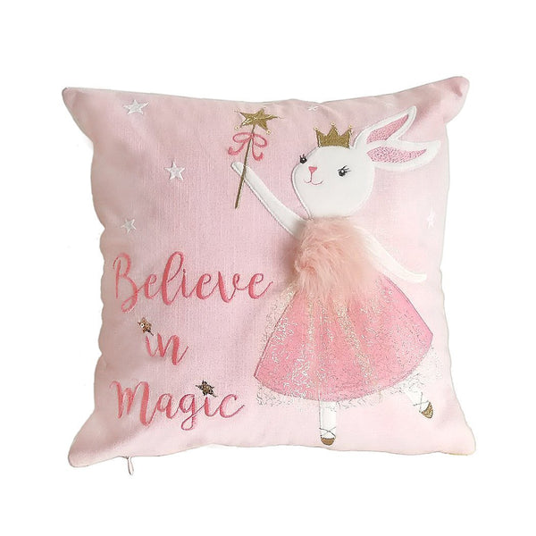 WHIMSICAL 'BELIEVE IN MAGIG ' 3D DECORATIVE PILLOW