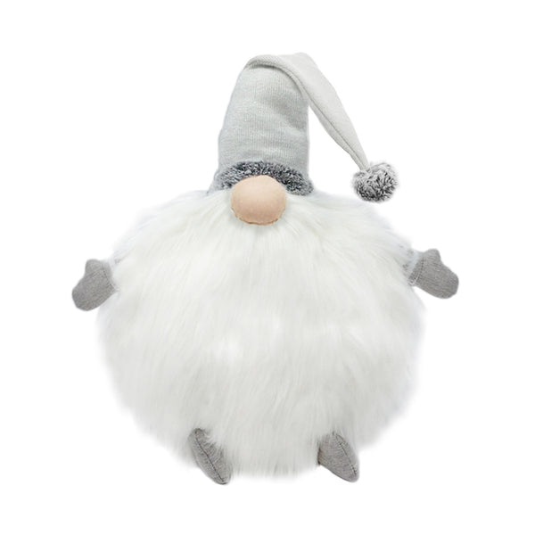 Gnome Lux Fur Pillow White