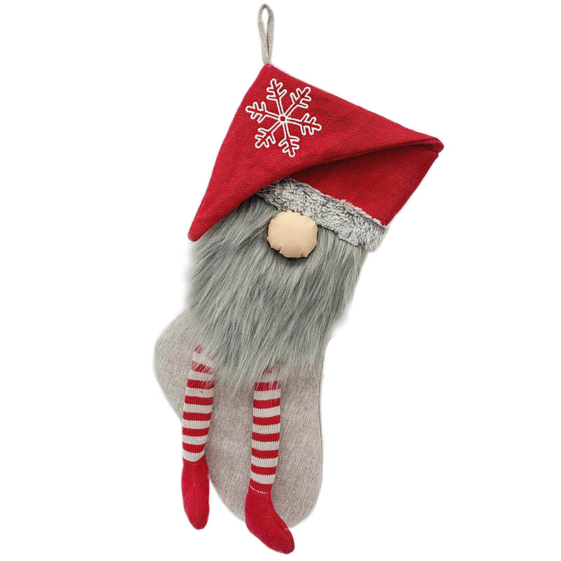 RED GNOME CHRISTMAS STOCKING