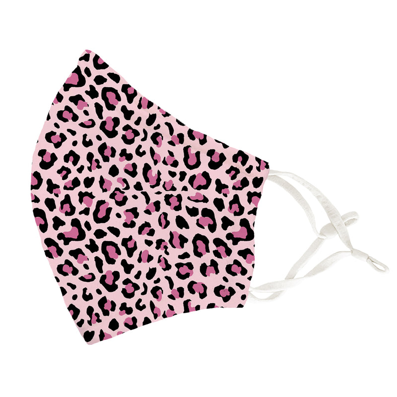 Pink Leopard Adult Face Cover 2 Pack Set