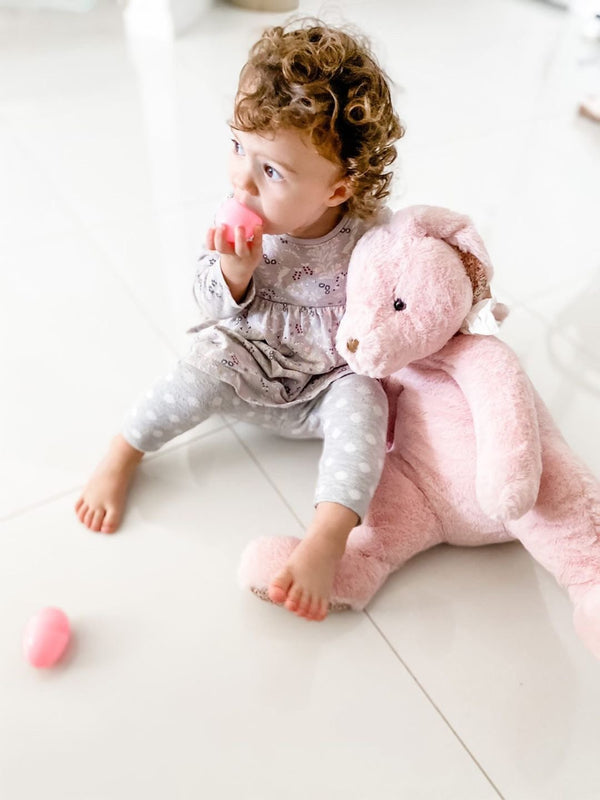 PINK BUNNY PLUSH TOY  'ESTER'