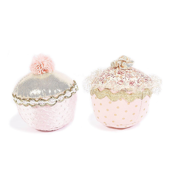 2 PIECE PLUSH TOY CUPCAKE SET