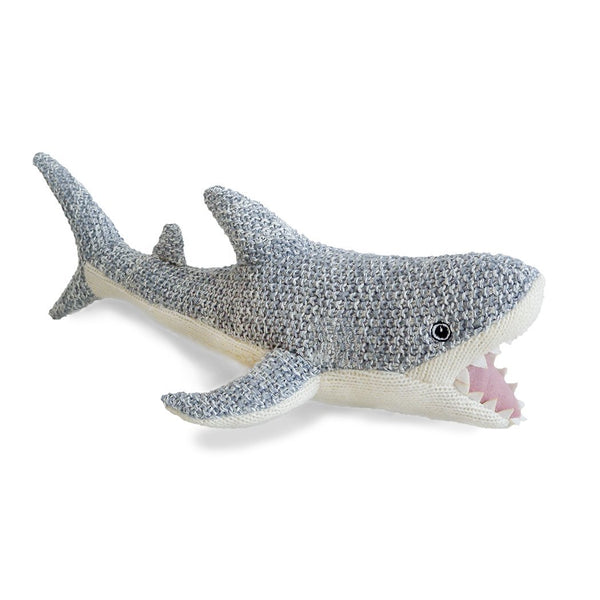 'SEYMOUR' SHARK KNIT SUFFED ANIMAL