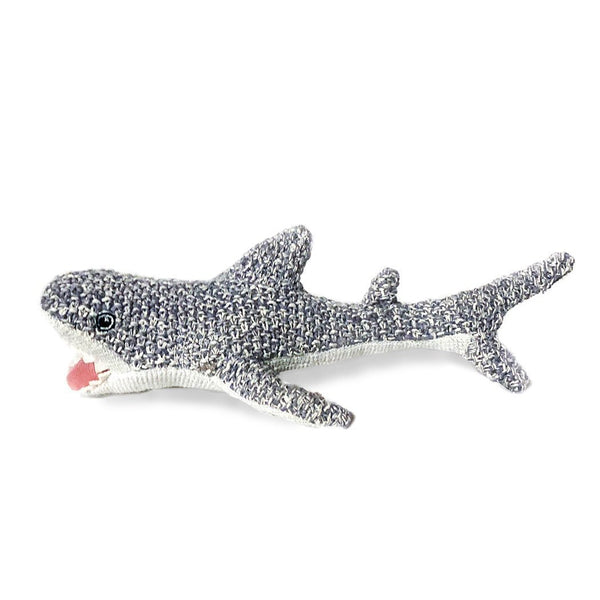 SHARK COTTON KNIT BABY RATTLE 'SEYMOUR'