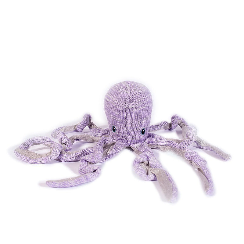 OCTOPUS COTTON KNIT BABY RATTLE 'ORLA'