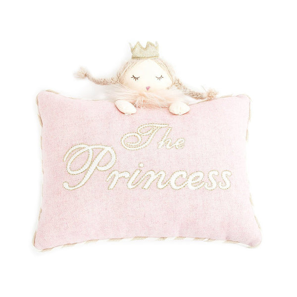 'THE PRINCESS' PINK ACCENT PILLOW