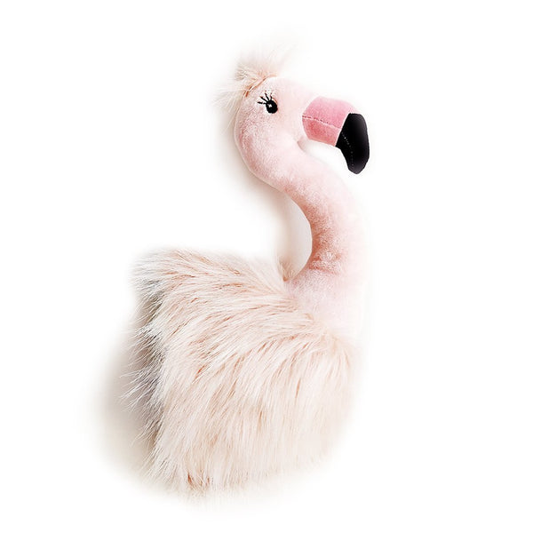 Plush Flamingo Wall Mount