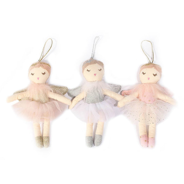 ASSORTED ANGEL PLUSH DOLL ORNAMENTS