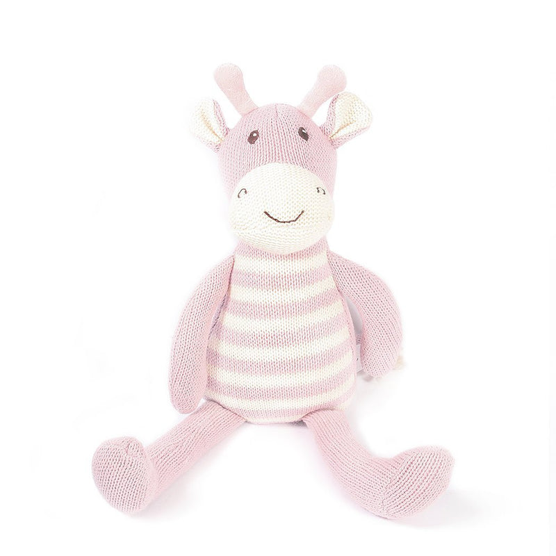 GIRAFFE COTTON KNIT PLUSH TOY