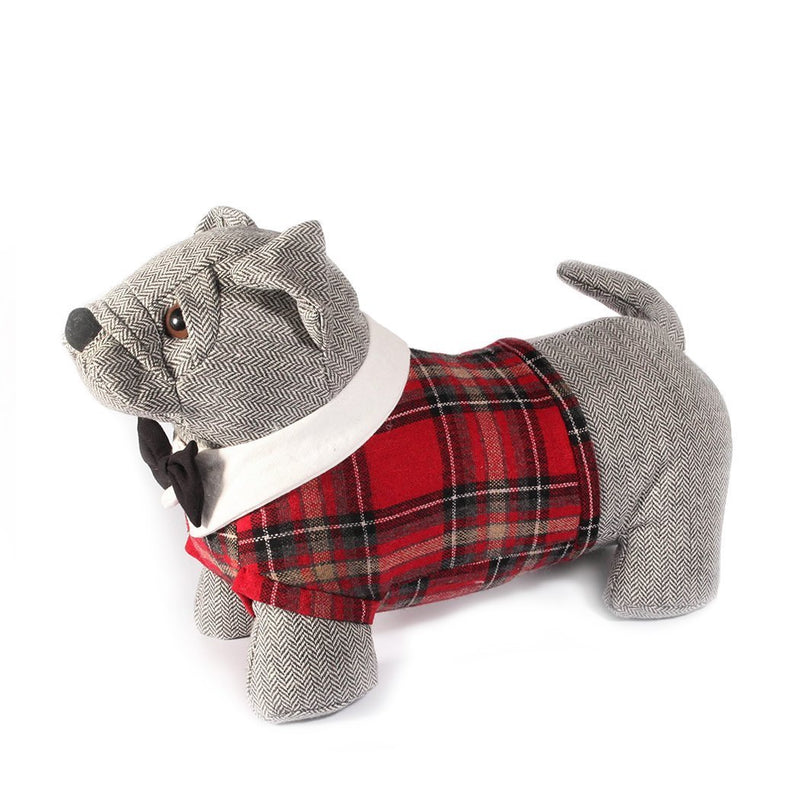 Mon Ami Dapper Bulldog Weighted Bull Dog Door Stop, 12 in