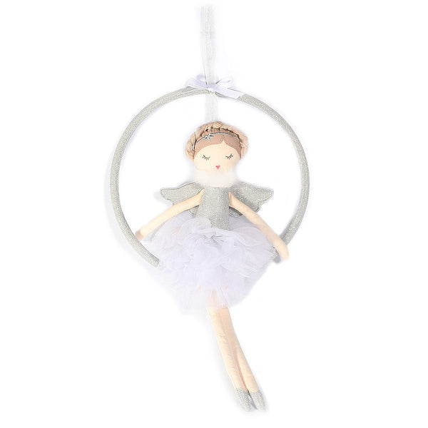 SILVER ANGEL SWING MOBILE ROOM DECOR ' ADELE'
