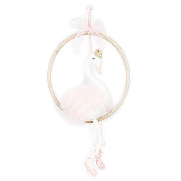 PLUSH SWAN SWING ROOM DECOR MOBILE 'SELENE'
