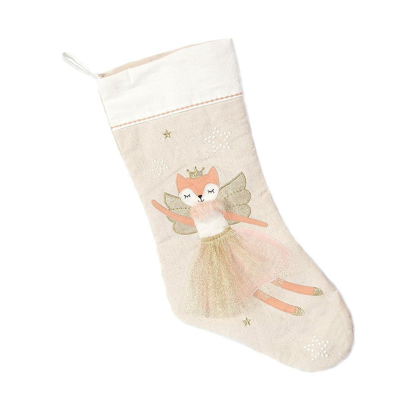 FOX BALLERINA CHRISTMAS STOCKING