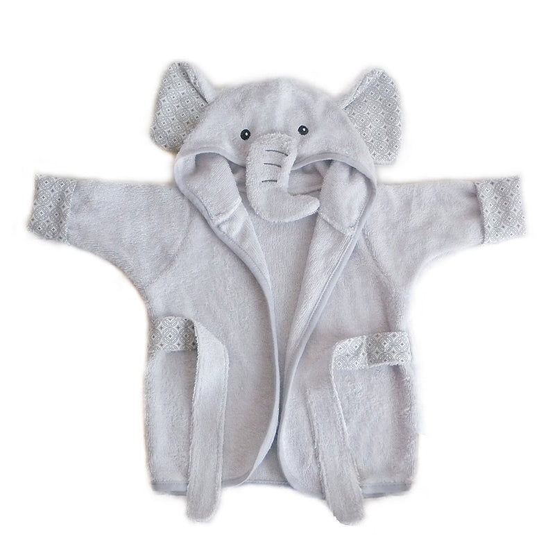 ELEPHANT  BAMBOO TERRY GRAY BABY ROBE