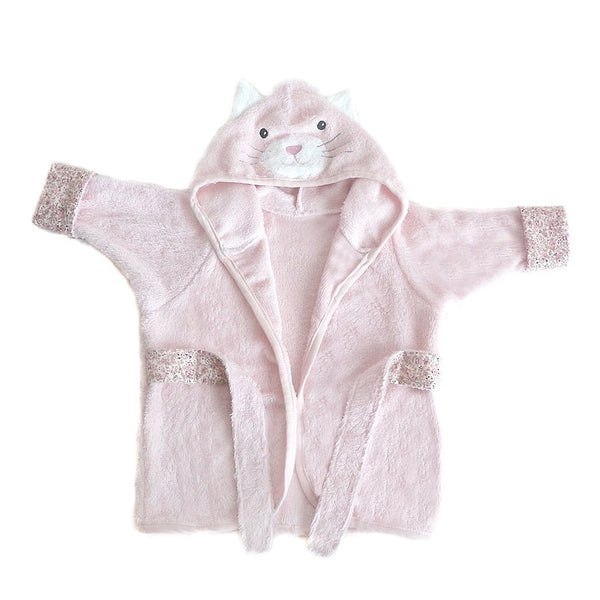 KITTY VISCOSE BAMBOO PINK BABY ROBE