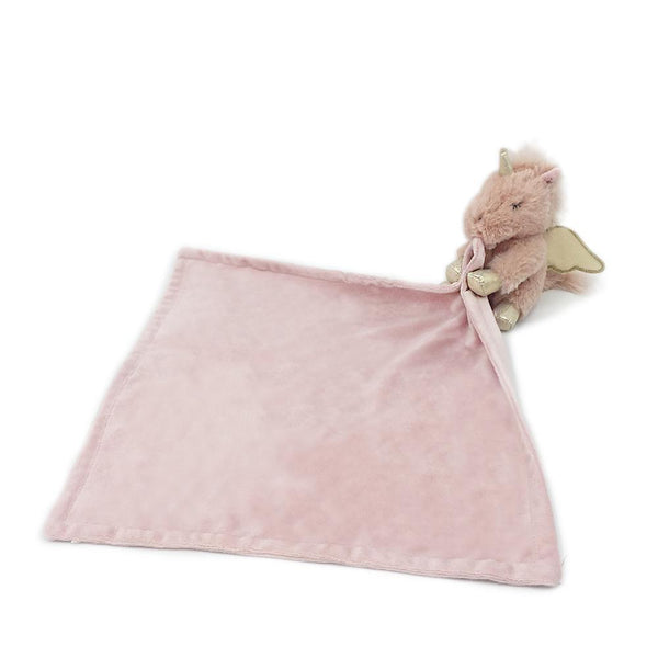"'ULIANA"" PINK UNICORN PLUSH BABY SECURITY BLANKET"