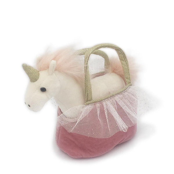 PRETTY UNICORN PLUSH TOY IN PURSE 'OPHELIA'