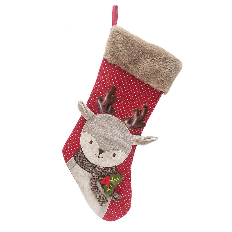 MERRY REINDEER HOLIDAY STOCKING