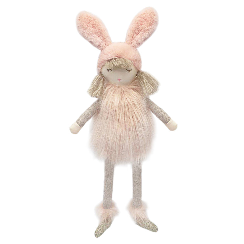 Aurora Pink Snow Bunny Doll 14 in