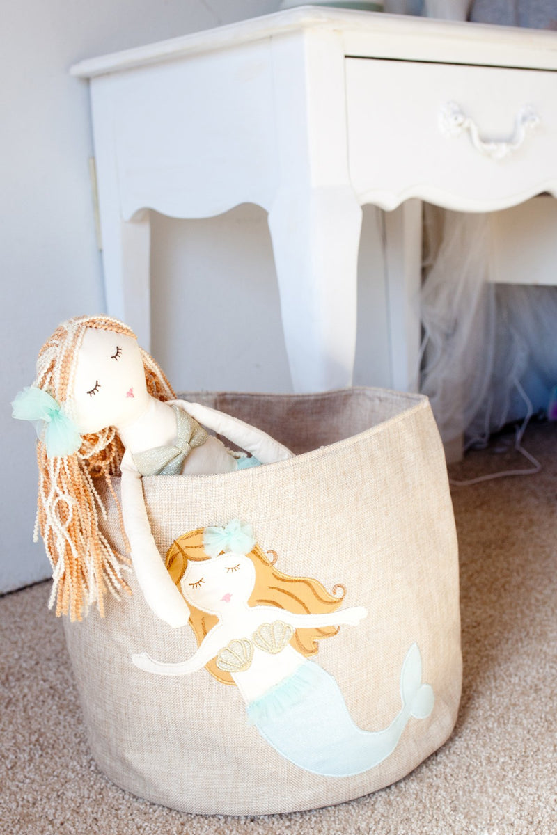 MERMAID LINEN TOY STORAGE BIN