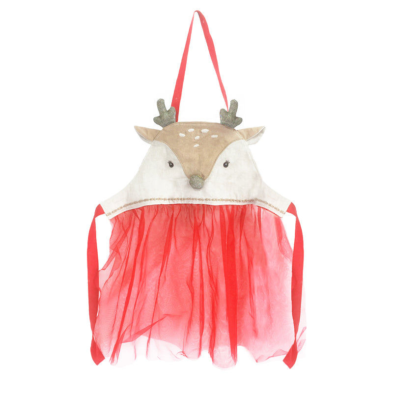 Holiday Reindeer Play Apron 17.5in