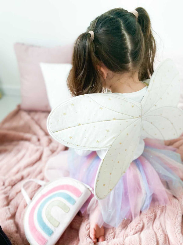 FAIRY WINGS AND STAR MAGIC WAND DRESS UP SET