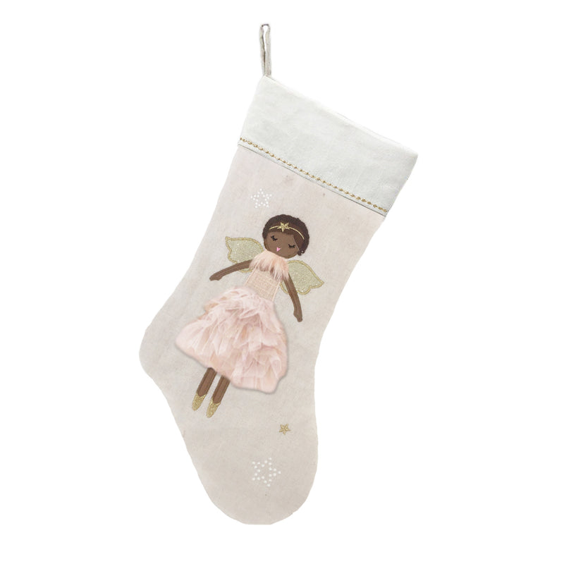 Pink Ada Angel Stocking 21 in