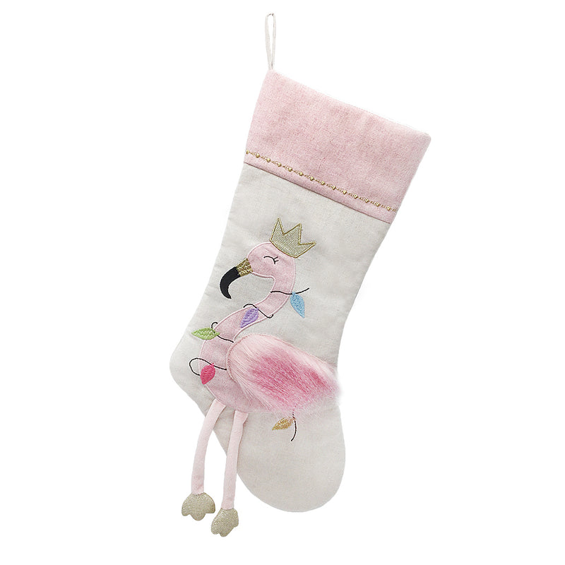 FESTIVE FLAMINGO STOCKING