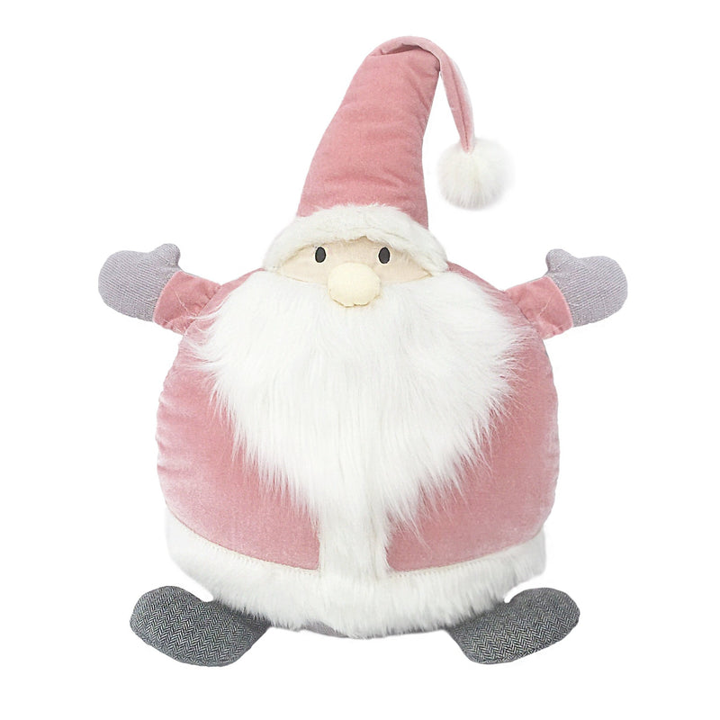 PINK SANTA ROUND ACCENT PILLOW