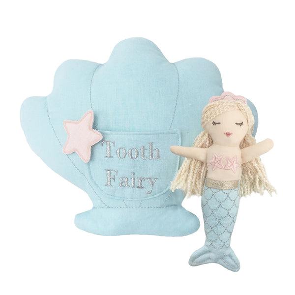 'MIMI' MERMAID TOOTH FAIRY PILLOW & DOLL SET