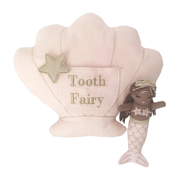 'MACIE' MERMAID TOOTH FAIRY PILLOW & DOLL SET