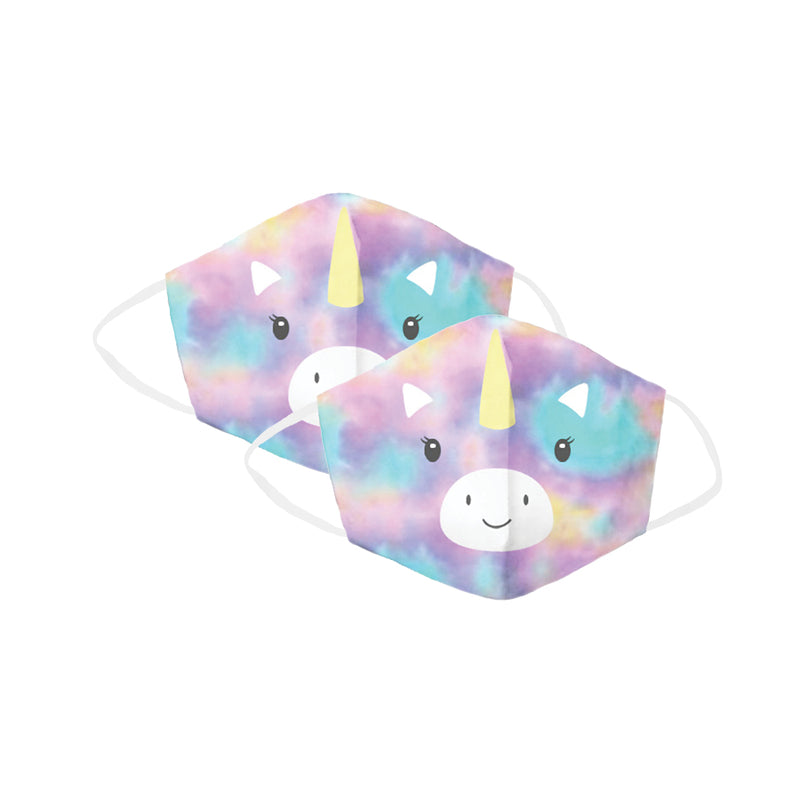 Rainbow Unicorn Children's Face Cover 2 Pack Set