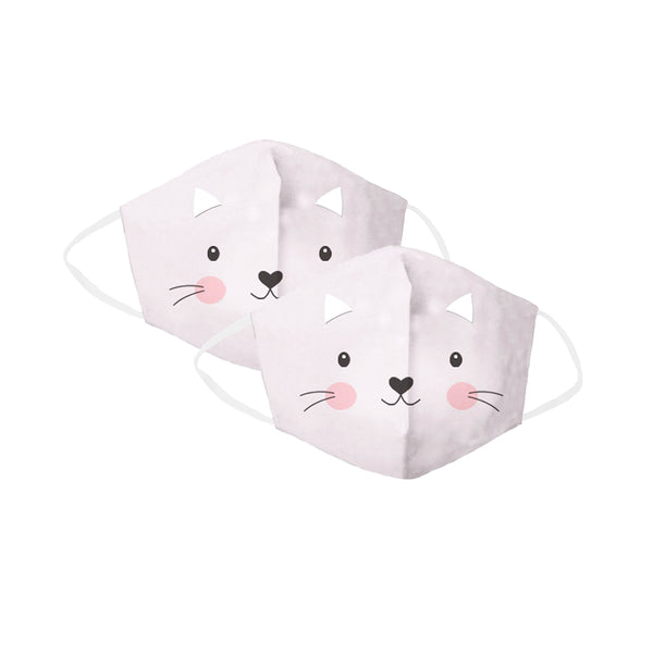 Violet Kitty Children's Face Cover 2 Pack Set