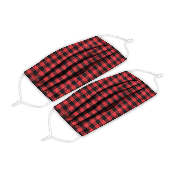 Buffalo Plaid Adult Face Cover 2 Pack Set