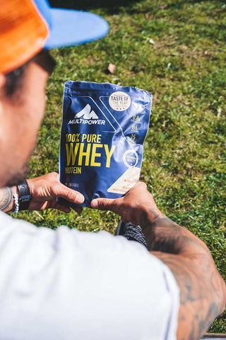 Whey are you waiting Die Basis aller Supplements Protein Pulver Multipower Shagel Butt