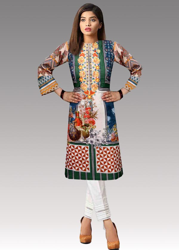 Leila - Digital Embroidered Lawn (Unstitch)