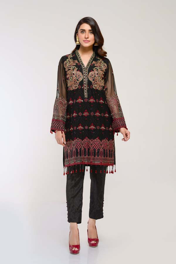 Eigengrau -  Embroidered Chiffon 2 Piece (Unstitch)
