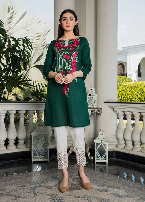 Acer - Embroidered Lawn Kurti