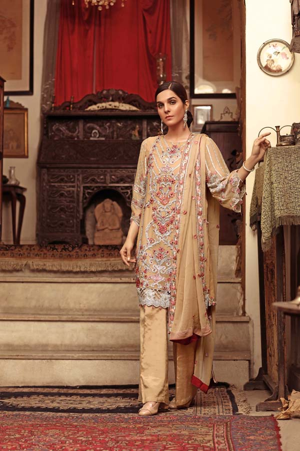 Silky Fern - EMBROIDERED CHIFFON UNSTITCHED 3 PIECE
