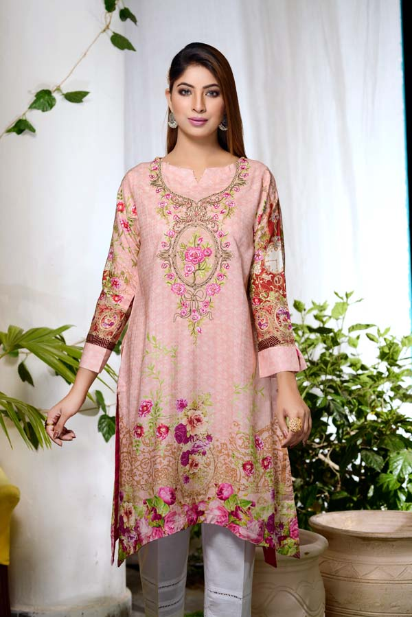 Pippin - Digital Embroidered & Hand Embellished Stitched Kurti